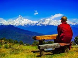theravada buddhism, himalaya retreat, annapurna range