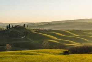 tuscany, sun, hills