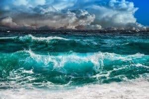waves, sea, sky